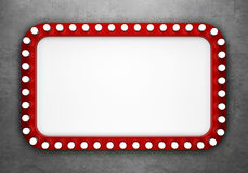 Retro cinema banner on concrete wall Stock Images