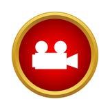 Retro cinema camera icon, simple style. Retro cinema camera icon in simple style on a white background Royalty Free Stock Photography