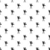 Retro cinema camera pattern, simple style. Retro cinema camera pattern. Simple illustration of retro cinema camera vector pattern for web Stock Photography