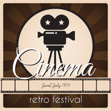 Retro cinema festival. Stock Photos