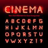 Retro cinema font Royalty Free Stock Image
