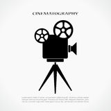 Retro cinema icon. Vector illustration Royalty Free Stock Photo