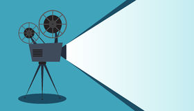 Retro cinema icon with text place, vector illustration Stock Image