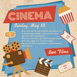 Retro cinema poster Stock Images