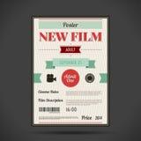 Retro cinema poster. Vector illustration Stock Images