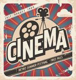 Retro cinema poster stock illustration