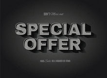 Retro cinema styled Special Offer sign. Vintage movie or retro cinema text effect advertising vector special offer sign Royalty Free Stock Photography