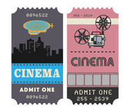 Retro cinema ticket Stock Photography