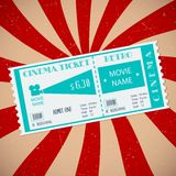 Retro Cinema Ticket Stock Images