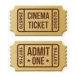 Retro cinema ticket. Royalty Free Stock Photos
