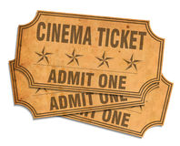 Retro cinema tickets Royalty Free Stock Images