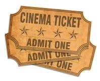 Retro cinema tickets Royalty Free Stock Images