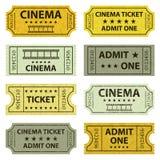 Retro cinema tickets. Royalty Free Stock Photo