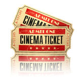 Retro cinema tickets  on white. Stock Image