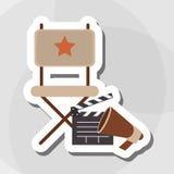 Retro cinema variopinto, illustrazione di vettore Immagine Stock