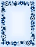 Retro circle frame. Black and blue retro circles border / frame Stock Photos