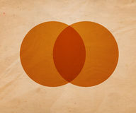 Retro Circle Illustration Background Stock Image