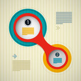Retro Circle Infographics Background Royalty Free Stock Photography