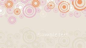 Retro circle invitation Stock Photo