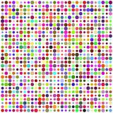 Retro Circle Multicolored Abstract Pattern Royalty Free Stock Images