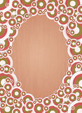 Retro circle ornamental frame Royalty Free Stock Image