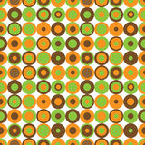Retro circle pattern. Retro pattern with colorful circles on white background Royalty Free Stock Image