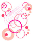 Retro circle pattern. Vector illustration of pink and purple circles Stock Photography