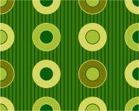 Retro circle pattern. Retro vector green circles pattern Stock Photography