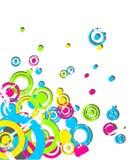 Retro circle pattern Stock Images