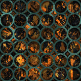 Retro circle pattern with grunge effect. Vector eps 10 Royalty Free Stock Images