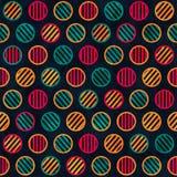 Retro circle seamless pattern. (eps 10 Stock Photography