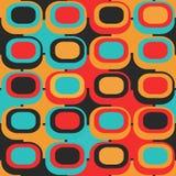 Retro circle seamless pattern. (eps 10 Stock Photo
