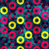 Retro circle seamless pattern. (eps 10  file Stock Images