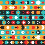 Retro circle seamless pattern. (eps 10 vector file Royalty Free Stock Photography