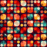 Retro circle seamless pattern. (eps 10 vector file Stock Image