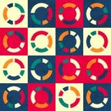 Retro circle seamless pattern Stock Photos
