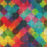 Retro circle seamless pattern with grunge effect Royalty Free Stock Photography