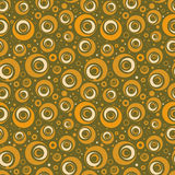 Retro circle seamless pattern. In shades of brown Stock Photo