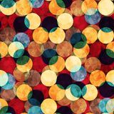 Retro circle seamless texture with grunge effect Royalty Free Stock Images