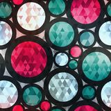 Retro Circle Seamless Texture With Diamond Effect Stock Image