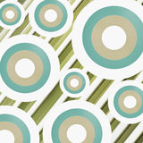 Retro circle with stripe background Stock Photos