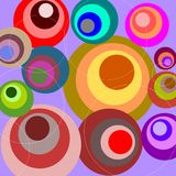 Retro Circles. Illustration of colorful retro circles stock illustration