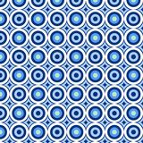 Retro circles. Vintage seamless tile pattern with blue circles stock illustration