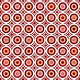 Retro circles. Vintage seamless tile pattern with red circles vector illustration