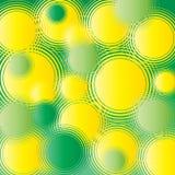 Retro circles. Green and yellow retro circles background - vector Royalty Free Stock Photos