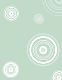 Retro circles. Background in mint Stock Illustration