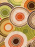 Retro circles background. Stock Photo