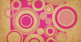 Retro circles background Stock Photo