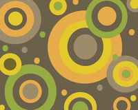 Retro circles background. Retro brown, orange, yellow and green circles background vector illustration