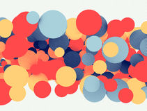 Retro circles background Stock Images